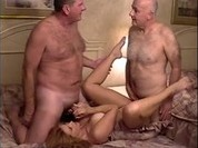 Grandpa fucks hot blonde from behind