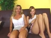 Mom and step-daughter fucks together