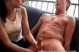 Handjob for Dad
