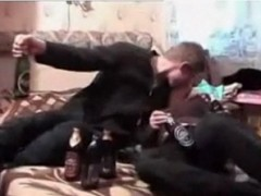 Drinking Sister with Hairy pussy Molested and forced by Brother