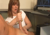 Mother catches son wanking and helps him