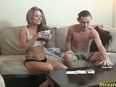 Game strip poker with his mom