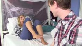 Slutty Sister Grounded With Her Horny Brother