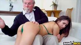 Kira Gets Pounded By Grandpa