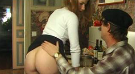 Father Decide To Teach His Sweet Little Daughter First Her Anal Lesson